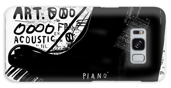 Horizontal Galaxy Case - The Symbolic Image Of A Piano On White by Dmitriip