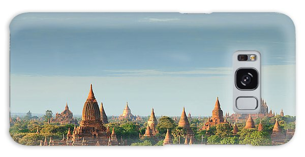 Spirituality Galaxy Case - The Temples Of Bagan At Sunrise, Bagan by Lkunl