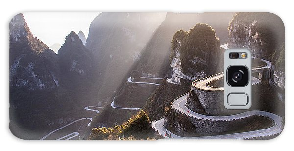 Scenery Galaxy Case - The Winding Road Of Tianmen Mountain by Kikujungboy