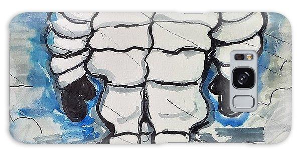Scarf Galaxy Case - The Winter Snowman by Geraldine Myszenski