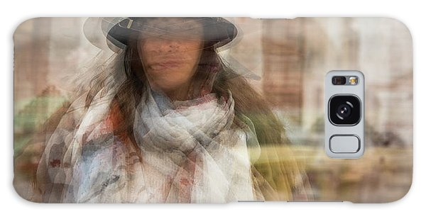Galaxy Case featuring the photograph The Woman In The Black Hat by Alex Lapidus
