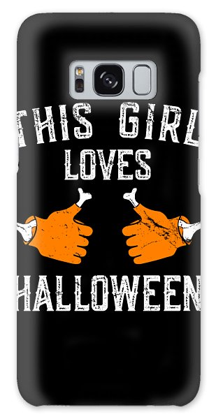 This Girl Loves Halloween Galaxy Case