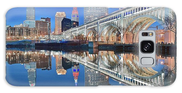 Town Square Galaxy Case - This Is Cleveland II by Frozen in Time Fine Art Photography