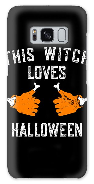 This Witch Loves Halloween Galaxy Case