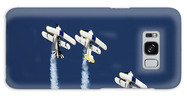 Plane Galaxy Case - Three Aerobatic Aeroplanes Flying by Johan Swanepoel