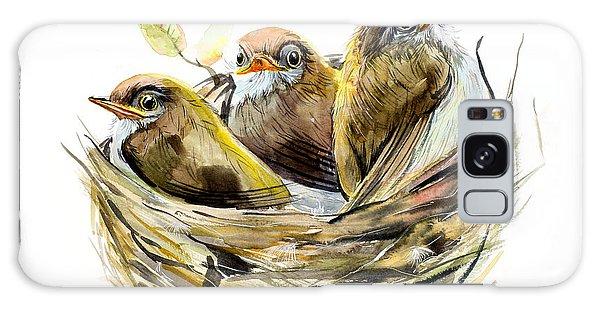 Young Galaxy Case - Three Chicks. Nest With A Baby Birds by Marya Kutuzova