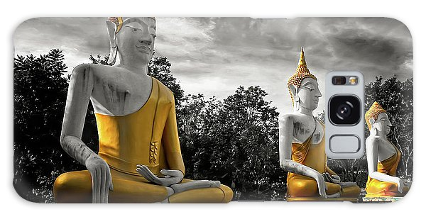 Galaxy Case - Three Golden Buddhas by Adrian Evans