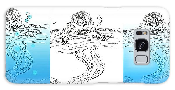 Three Mermaids All In A Row Galaxy Case