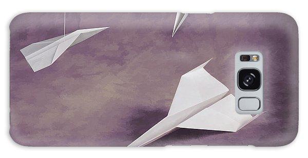 Airplanes Galaxy Case - Three Paper Airplanes by Tom Mc Nemar