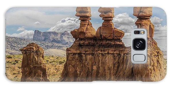 Three Sisters Hoodoos Goblin Valley State Park Galaxy Case