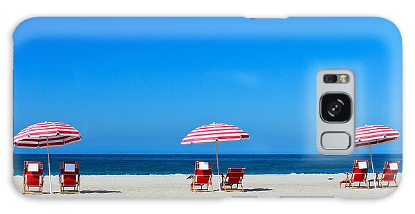 Los Angeles Galaxy Case - Three Sun Umbrellas At Santa Monica by Blueorange Studio