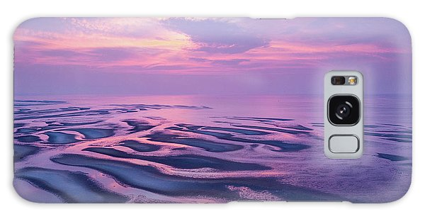Tidal Flats Sunset Galaxy Case