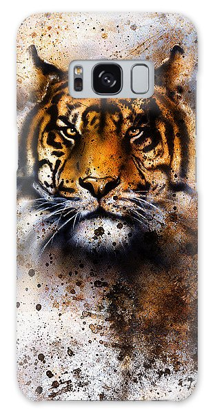 Furry Galaxy S8 Case - Tiger Collage On Color Abstract by Jozef Klopacka