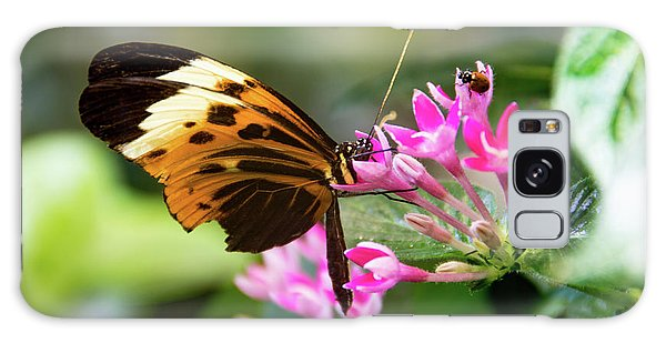 Tiger Longwing Butterfly Drinking Nectar  Galaxy Case