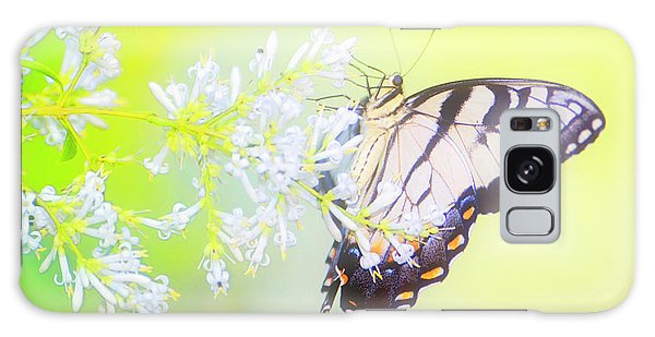 Tiger Swallowtail Butterfly On Privet Flowers Galaxy Case