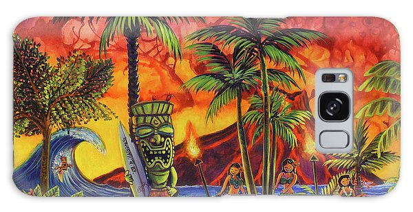Tiki Surf A Lot Galaxy Case