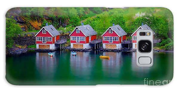Shed Galaxy Case - Tilt Shift Effect On Some Boat Houses by Shaunwilkinson