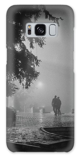 Galaxy Case featuring the photograph Together In Fog, Sa Pa, 2014 by Hitendra SINKAR
