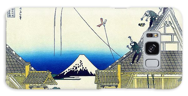 Country Living Galaxy Case - Top Quality Art -mt,fuji36view-mitsui 	Shopping Street by Katsushika Hokusai