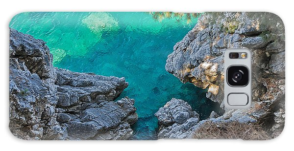 Seashore Galaxy Case - Top View Of Cliffs, Bays, Clear Sea by Kato.72