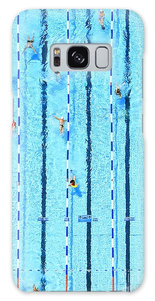 Active Galaxy Case - Top View On Pool With Blue Water And by Protasov An