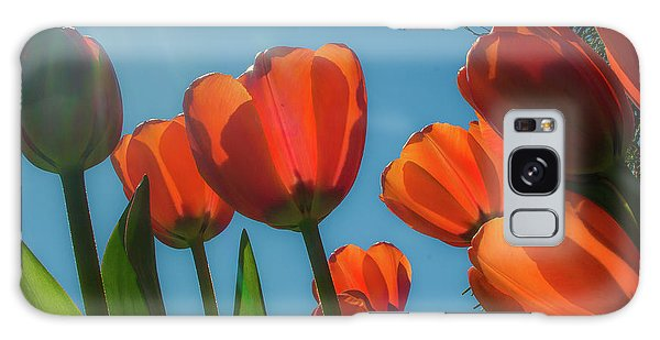 Towering Tulips Galaxy Case