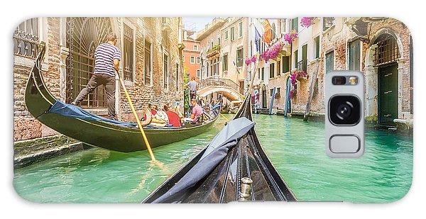 Attraction Galaxy Case - Traditional Gondolas On Narrow Canal In by Canadastock