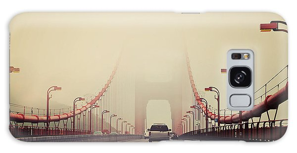 Usa Galaxy Case - Traffic Crossing A Foggy Golden Gate by Stuart Monk