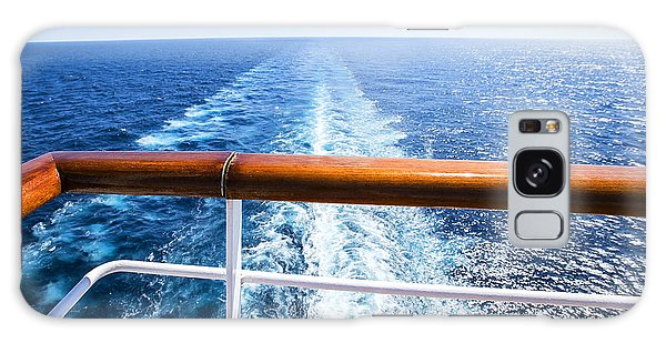Motor Yacht Galaxy Case - Trail On Water Surface Behind Of Cruise by May lana