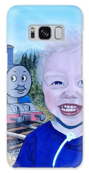 Galaxy Case featuring the painting Train by Kevin Daly