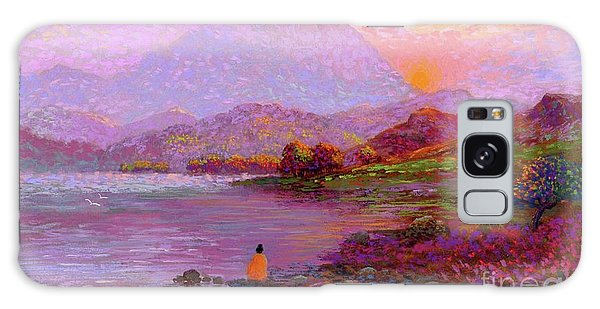 Mountain Lake Galaxy Case - Tranquil Mind by Jane Small