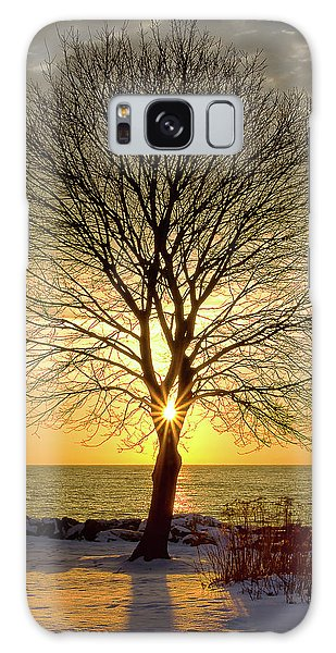 Galaxy Case featuring the photograph Tree Framed Sunrise New Hampshire by Nathan Bush