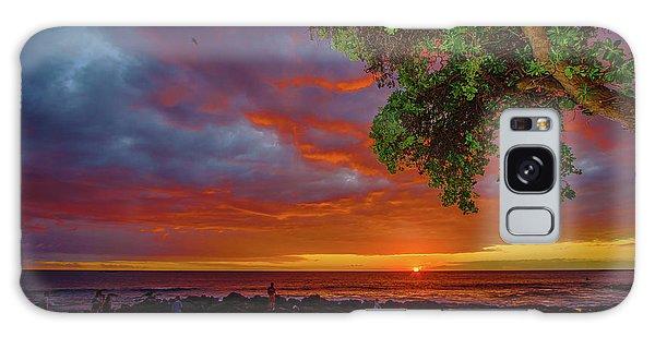 Tree  Sea And Sun Galaxy Case