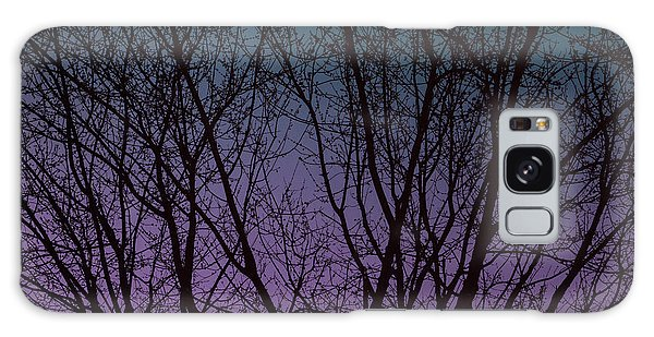 Tree Silhouette Against Blue And Purple Galaxy Case