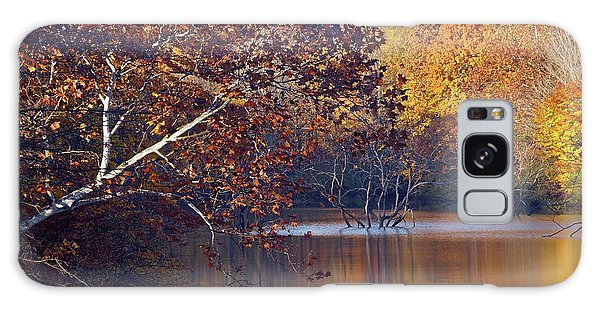 Galaxy Case featuring the photograph Trees At The Water's Edge by Mike Murdock