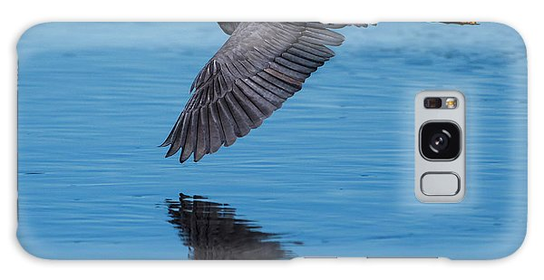 Galaxy Case featuring the photograph Tri-colored Heron In Flight by Ken Stampfer