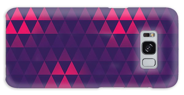 Glow Galaxy Case - Triangle Pattern, Vector Illustration by Oliopi
