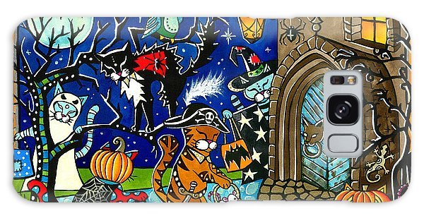 Trick Or Treat Halloween Cats Galaxy Case