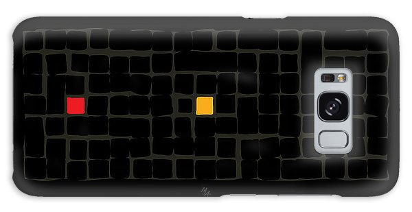 Galaxy Case featuring the digital art Tricolor In Black by Attila Meszlenyi