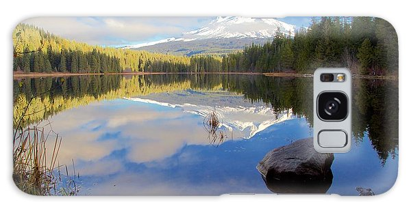 Trillium Lake Morning Reflections Galaxy Case