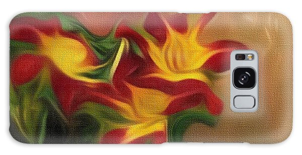 Trio Of Day Lilies Galaxy Case