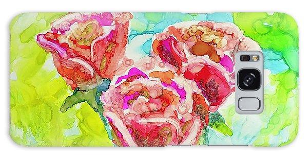 Trio Of Roses Galaxy Case