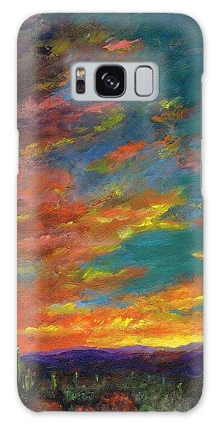 Triptych 1 Desert Sunset Galaxy Case