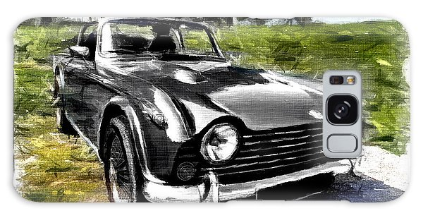 Triumph Tr5 Monochrome With Brushstrokes Galaxy Case