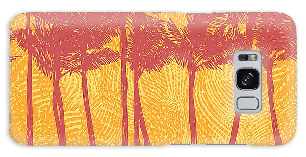 Horizontal Galaxy Case - Tropical Coast With Palms. Vector by Jumpingsack
