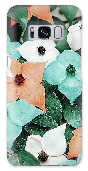 Tropical Dogwood Flowers Galaxy Case