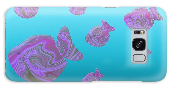Tropical Fish In Pink Psychedelic Pattern Galaxy Case