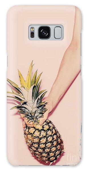 Young Galaxy Case - Tropical Summer. Fashion Girl With by Evgeniya Porechenskaya