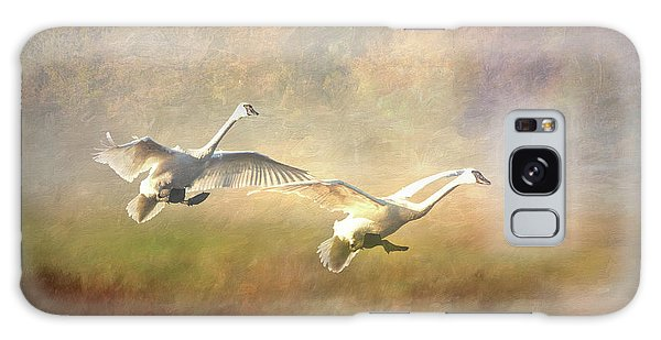 Trumpeter Swan Landing - Painterly Galaxy Case
