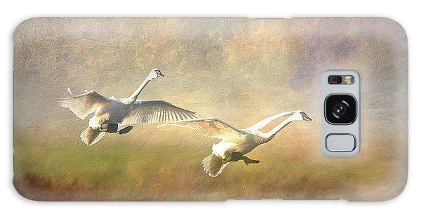 Trumpeter Swan Landing - Painterly Galaxy Case